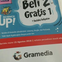 Photo taken at Gramedia by lina a. on 9/21/2016