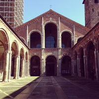 Photo taken at Basilica di Sant'Ambrogio by Юлиана on 3/19/2013