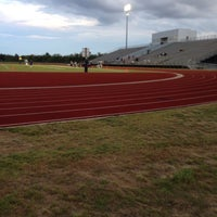 Photo taken at Wilmer Hutchins Football Stadium by Brandon L. on 9/19/2014