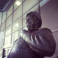 Photo taken at Ralph Kramden Statue by Michael C. on 10/4/2012