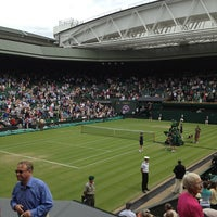 Photo taken at The All England Lawn Tennis Club by Laura S. on 6/27/2013