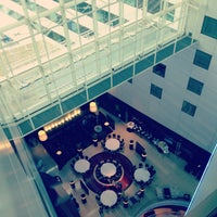 Photo taken at Sheraton Amsterdam Airport Hotel and Conference Center by Seda A. on 5/21/2013