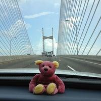 Photo taken at Napoleon Bonaparte Broward (Dames Point) Bridge by Ian on 4/1/2013