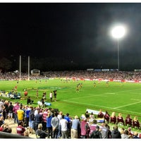 Photo taken at Brookvale Oval by Adam G. on 4/14/2016