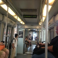 Photo taken at MBTA Green Line - B Train by Refia A. on 7/22/2013