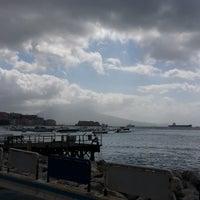 Photo taken at Molo di Sopraflutto Sannazzaro (Molo Luise) | Porto di Napoli by Davide on 6/30/2014