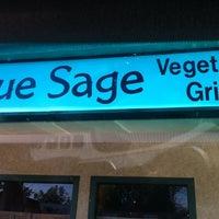 Photo taken at Blue Sage Vegetarian Grille by Natural Awakenings B. on 10/24/2012