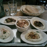 Photo taken at Hummus Place by Christine T. on 12/14/2012