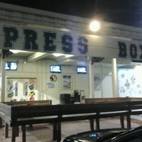 Photo taken at Press Box Sports Emporium & Eatery by Cassie G. on 9/14/2012