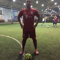 Photo taken at Kuningan Village Futsal & Food Park by Aldo S. on 6/1/2014