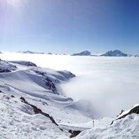 Photo taken at Whistler Mtn. Peak by Kris A. on 4/3/2013