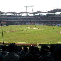 Photo taken at Jawaharlal Nehru Stadium by Jeswin J. on 1/15/2013