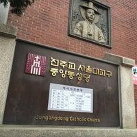 Photo taken at Jungang-dong Catholic Church by Young Jun K. on 4/15/2014