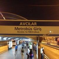 Photo taken at Avcılar Metrobüs Durağı by Nihan U. on 7/18/2013