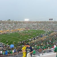Photo taken at Notre Dame Stadium by Zach S. on 8/31/2013