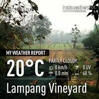 Photo taken at Lampang Vineyard by Jesada K. on 2/28/2013