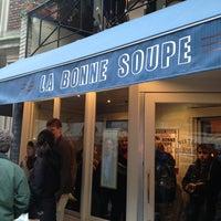 Photo taken at La Bonne Soupe by Carissa O. on 3/23/2013