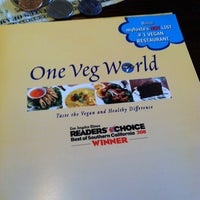 Photo taken at One Veg World by Lin-duhh!! . on 3/29/2013