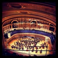 Photo taken at Symphony Center (Chicago Symphony Orchestra) by Anas A. on 11/17/2012