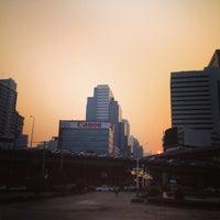 Photo taken at Sala Daeng Intersection by Vanit I. on 1/29/2015