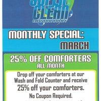 Photo taken at Super Clean Laundromat by Super Clean Laundromat on 3/3/2014
