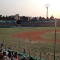 Photo taken at Cheongju Baseball Stadium by hesisi on 4/18/2012