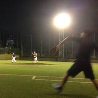 Photo taken at 青山運動場 野球場 by 16 m. on 10/1/2013