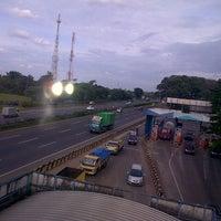 Photo taken at Gerbang Tol Tangerang by totong s. on 12/21/2013
