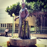 Photo taken at Queen Liliʻuokalani Statue by Quang B. on 3/25/2014