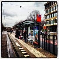 Photo taken at Tramhalte Oosteinde by Boris K. on 12/23/2013