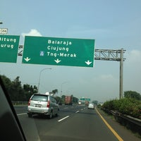 Photo taken at Exit tol curug / bitung by Shelly S. on 10/25/2012
