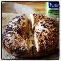 Photo taken at Brooklyn Bagel & Coffee Co. by Müge G. on 10/26/2012