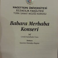 Photo taken at Hacettepe Üniversitesi Kültür Merkezi M Salonu by Meftun C. on 3/6/2013
