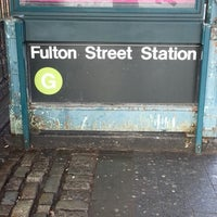 Photo taken at MTA Subway - Fulton St (G) by Millie B. on 1/29/2013