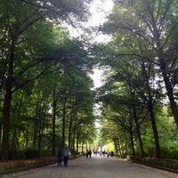 Photo taken at Treptower Park by Roma on 9/21/2012