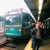 Photo taken at MBTA Science Park / West End Station by Tatiana G. on 12/8/2013