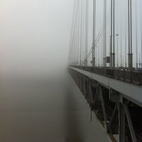Photo taken at George Washington Bridge by Team Sixcycle R. on 1/13/2013