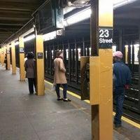 Photo taken at MTA Subway - 23rd St (C/E) by Santosh K. on 10/27/2012