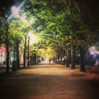 Photo taken at Karl-Marx-Allee by Chris C. on 10/29/2014