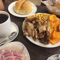 Photo taken at Chicharrones Don Lucho by Veronica A. on 10/8/2016