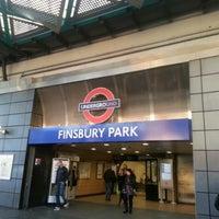 Photo taken at Finsbury Park London Underground Station by hellDJ on 11/11/2012