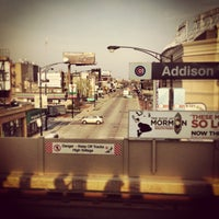 Photo taken at CTA - Addison by Conrad W. on 4/29/2013