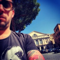 Photo taken at Piazza del Teatro (Piazza Verdi) by Fabio Z. on 3/17/2014