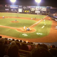 Photo taken at Estadio de Beisbol Eduardo Vasconcelos by Mario H. on 4/13/2013