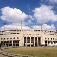 Photo taken at Estádio Municipal Paulo Machado de Carvalho (Pacaembu) by Douglas N. on 4/21/2013