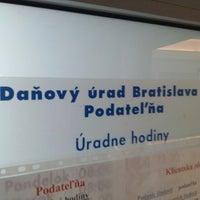 Photo taken at Daňový úrad Bratislava by Dávid T. on 7/25/2013