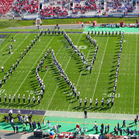 Photo taken at Ryan Field by Northwestern University Bands on 9/29/2012