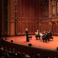 Photo taken at New England Conservatory's Jordan Hall by Penny C. on 12/6/2016