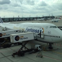 Photo taken at Lufthansa Flight LH 418 by Bernhard G. on 8/14/2014