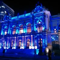 Photo taken at Theatro Municipal de São Paulo by Alencar C. on 5/10/2013